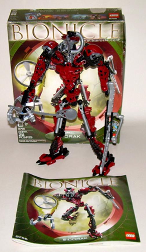 Lego Bionicle Titans Warriors Sidorak 87562005 With Box