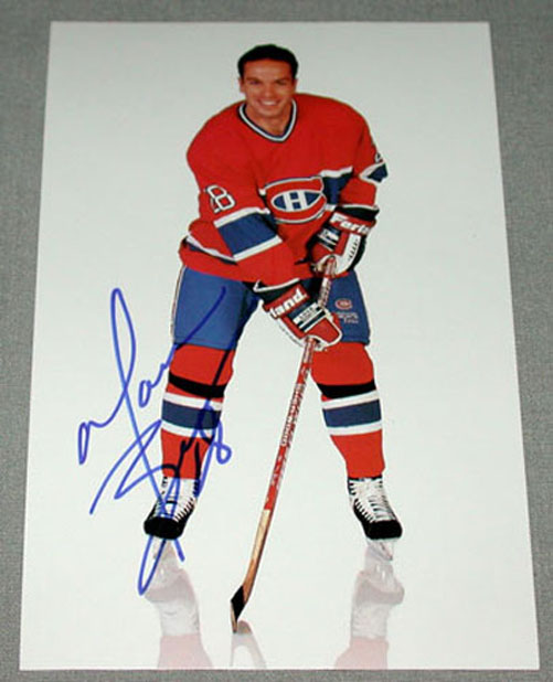 marc bureau montreal canadiens signed nhl postcard. Black Bedroom Furniture Sets. Home Design Ideas